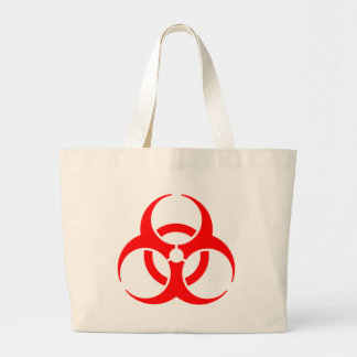 Muestra de peligro bolsa tela grande
