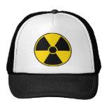 Muestra de peligro de radiación gorras de camionero