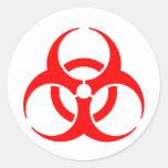 Muestra de peligro etiquetas redondas