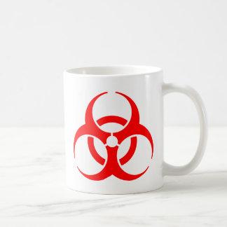 Muestra de peligro taza clásica