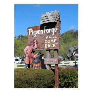 Muestra de Pigeon Forge Tennessee Tarjeta Postal