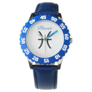 Muestra de Piscis del zodiaco. Los relojes de los