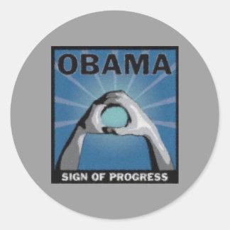Muestra de Progreso-Obama Pegatinas