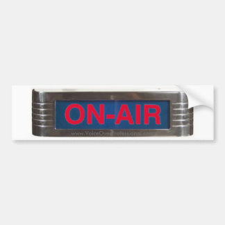 Muestra de radio clásica roja de ON-AIR que brilla Pegatina Para Auto