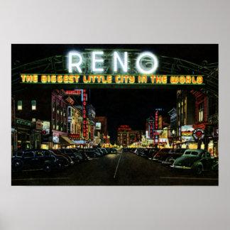 Muestra de Reno Nevada en la calle de Virginia en  Póster