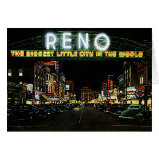 Muestra de Reno Nevada en la calle de Virginia en  Tarjeta De Felicitación