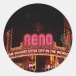 Muestra de Reno Pegatina Redonda