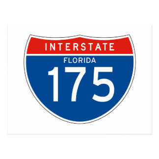 Muestra de un estado a otro 175 - la Florida Tarjeta Postal