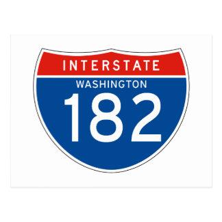 Muestra de un estado a otro 182 - Washington Tarjeta Postal