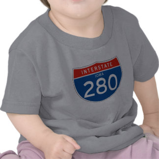 Muestra de un estado a otro 280 - Iowa Camisetas