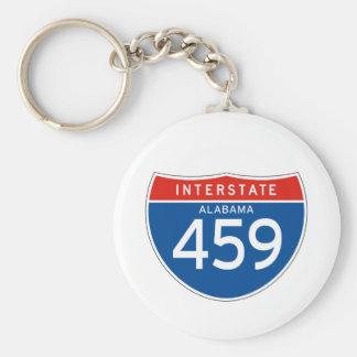 Muestra de un estado a otro 459 - Alabama Llavero Redondo Tipo Pin