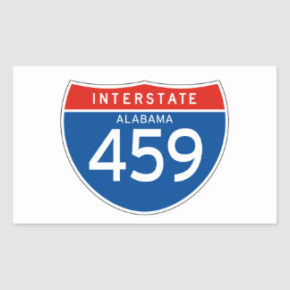 Muestra de un estado a otro 459 - Alabama Pegatina Rectangular