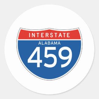 Muestra de un estado a otro 459 - Alabama Pegatina Redonda