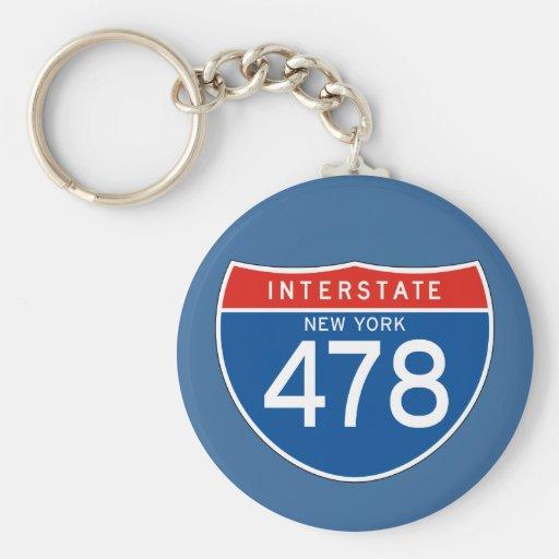 Muestra de un estado a otro 478 - Nueva York Llavero