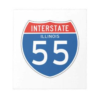Muestra de un estado a otro 55 - Illinois Libreta Para Notas