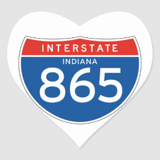 Muestra de un estado a otro 865 - Indiana Pegatina En Forma De Corazón