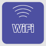 Muestra de WiFi Pegatina Cuadrada
