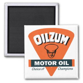 Muestra del aceite de motor de Oilzum del vintage Imán Cuadrado