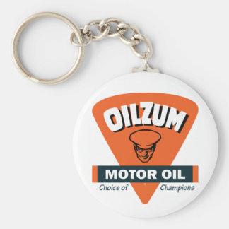 Muestra del aceite de motor de Oilzum del vintage Llavero Redondo Tipo Pin