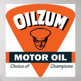 Muestra del aceite de motor de Oilzum del vintage Posters