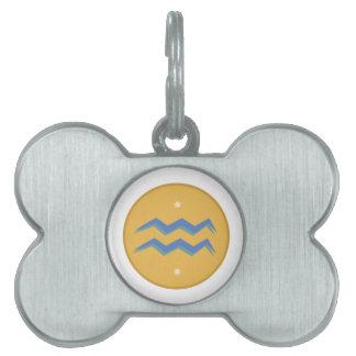 Muestra del acuario placa de nombre de mascota