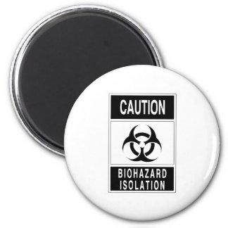 Muestra del aislamiento del Biohazard de la precau Imán De Frigorifico