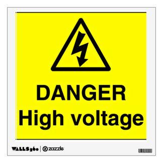 Muestra del alto voltaje del peligro vinilo