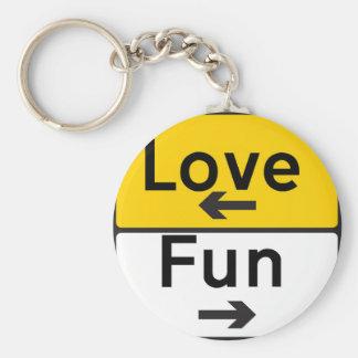 muestra del amor y de la diversión llaveros personalizados