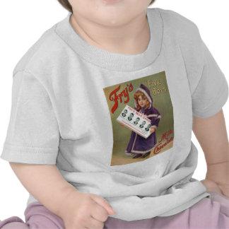 Muestra del anuncio del chocolate con leche de los camiseta