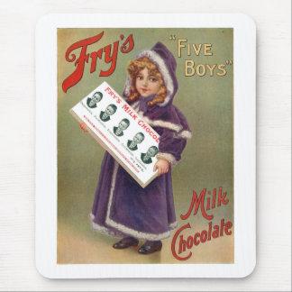 Muestra del anuncio del chocolate con leche de los alfombrilla de raton