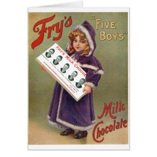 Muestra del anuncio del chocolate con leche de los felicitación
