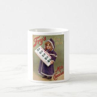 Muestra del anuncio del chocolate con leche de los taza