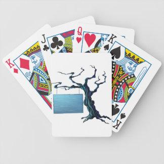 Muestra del árbol de Halloween Baraja Cartas De Poker
