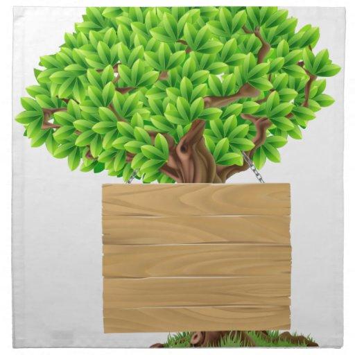 Muestra del árbol servilleta de papel