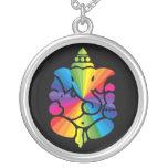 Muestra del arco iris de Ganesha Collares Personalizados