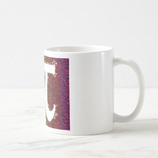 Muestra del arco iris pi taza básica blanca