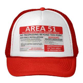 Muestra del área 51 gorros