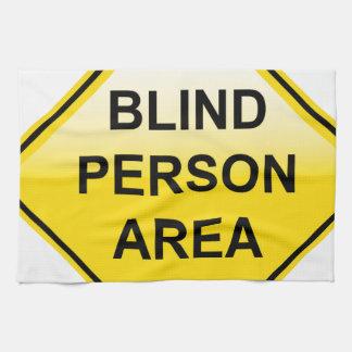 Muestra del área de la persona ciega toallas de cocina