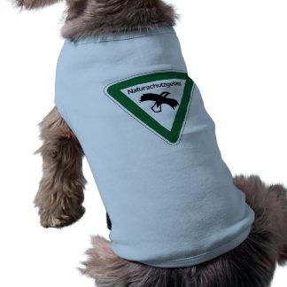 Muestra del área de protección de la naturaleza, ropa para mascota