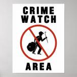 Muestra del área del reloj del crimen posters