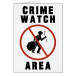 Muestra del área del reloj del crimen tarjetón