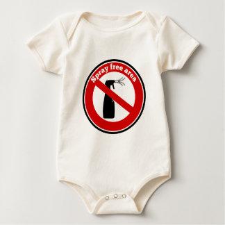 Muestra del área libre del aerosol body para bebé