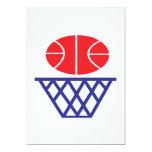 Muestra del baloncesto invitación 12,7 x 17,8 cm