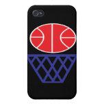 Muestra del baloncesto iPhone 4 cárcasa
