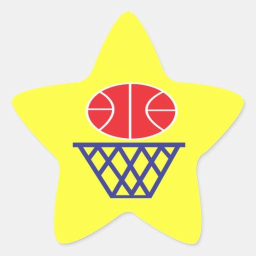 Muestra del baloncesto pegatinas forma de estrellaes