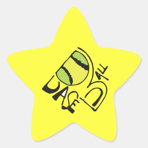 Muestra del béisbol calcomanías forma de estrella