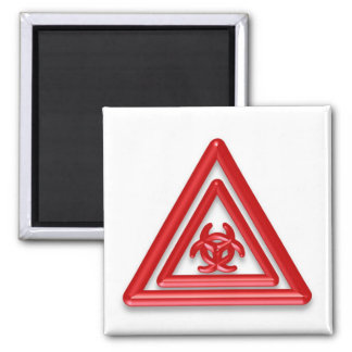 Muestra del Biohazard Imán De Frigorífico