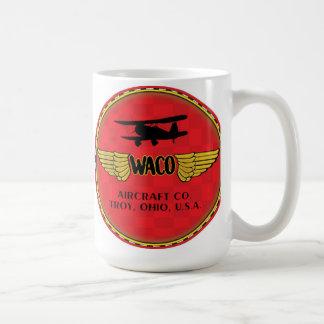 Muestra del biplano de Waco Taza Básica Blanca