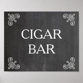 Muestra del boda - barra del cigarro o su propio poster