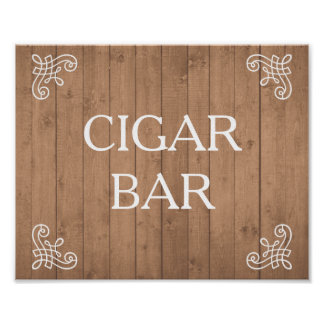 Muestra del boda - barra del cigarro o su propio póster
